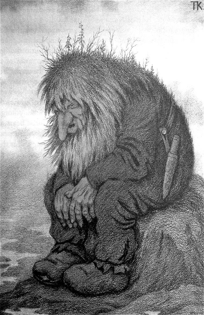 Theodor Kittelsen - The Troll Who Wanders About His Age