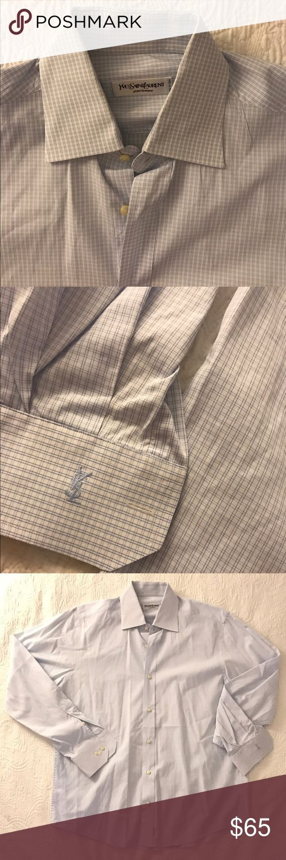 Yves Saint Laurent Men's Light Blue Shirt Worn just once, like brand new, made in Italy. Size 42 / 16.5 Retail $295 + Tax Yves Saint Laurent Shirts Dress Shirts