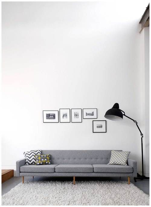 Via My Scandinavian Home | Grey and White | Angelucci Sofa #angeluccisofa #greysofa