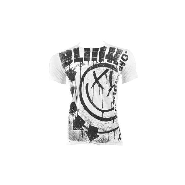 Blink 182 Spelled Out t shirt, Blink 182 merchandise, band t shirts UK ($37) ❤ liked on Polyvore