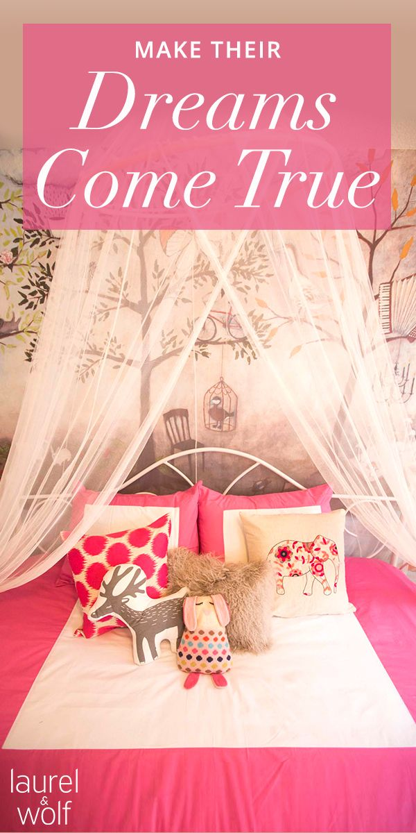 Want a beautiful nursery? We can help. Laurel & Wolf interior design services can help you give her a fairy-tale bedroom! See how online interior design is helping thousands of others create their perfect nursery.