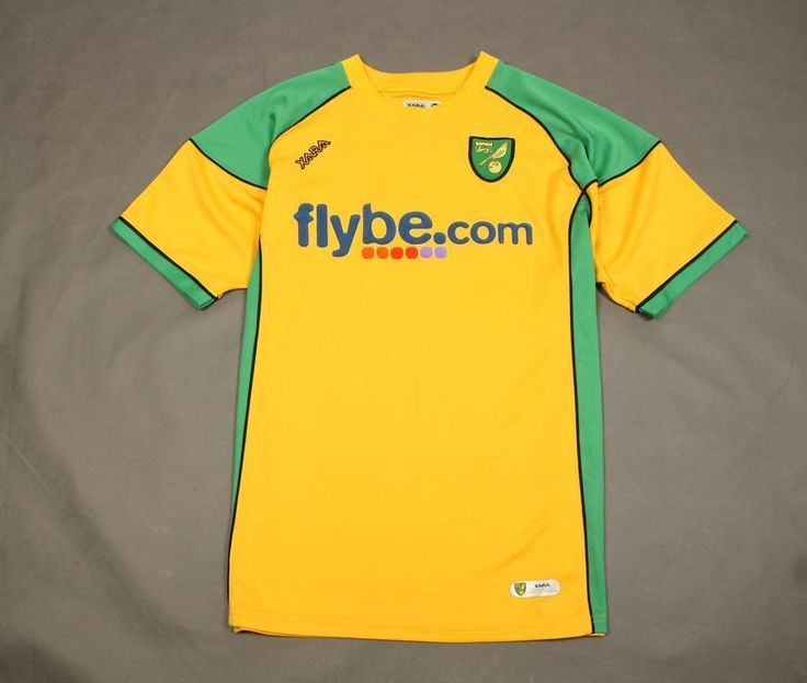 ####  XARA - NORWICH CITY FC - HOME - 2006/2008 -  SHIRT - SIZE - XL ####