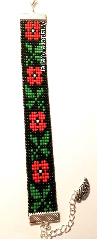 Bead loom bracelet Traditional bracelet Toho by AnadoreAtelier