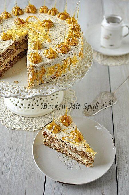 Walnuss Karamell Torte In 2018 Food And Drink Pinterest Cake