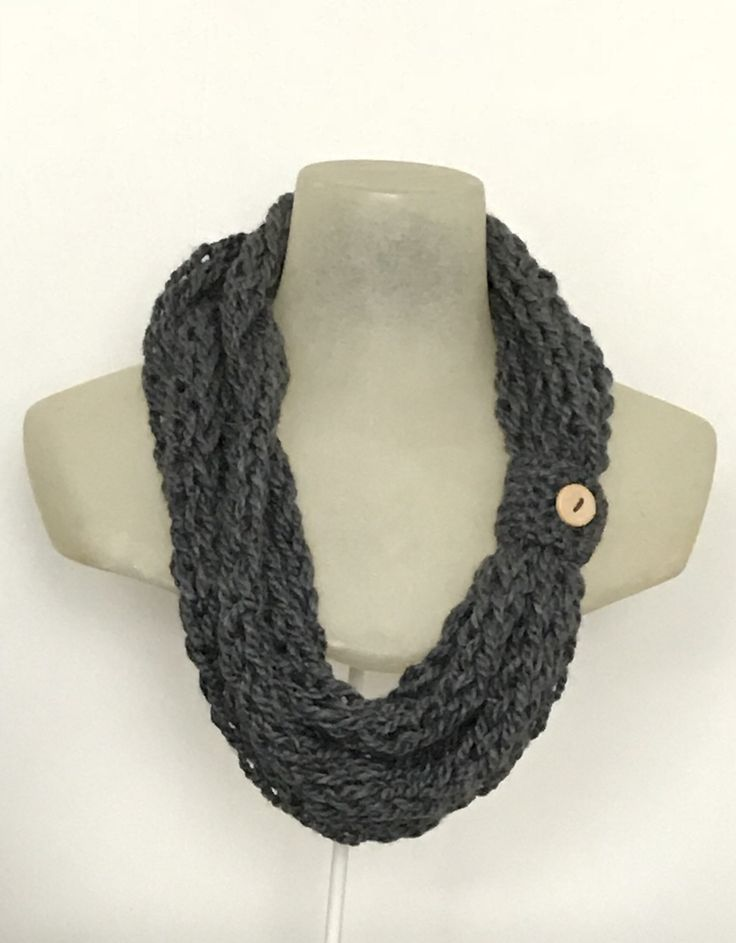 A personal favorite from my Etsy shop https://www.etsy.com/ca/listing/257431648/fingerknit-infinity-scarf-womens-braided