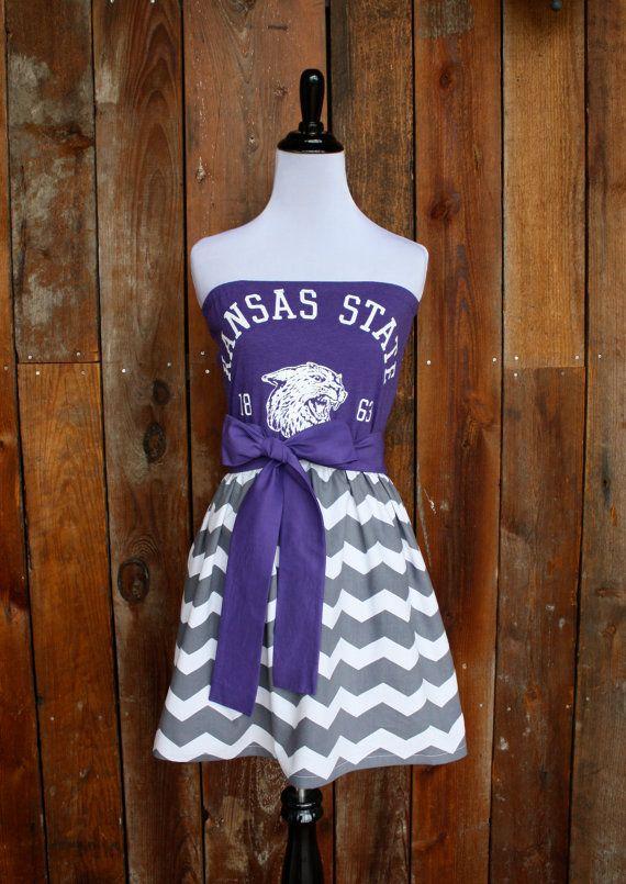 Kansas State KSU Wildcats Game Day Dress  Size by jillbenimble