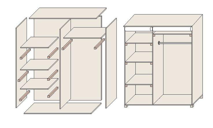die besten 25 einbauschrank selber bauen ideen auf. Black Bedroom Furniture Sets. Home Design Ideas