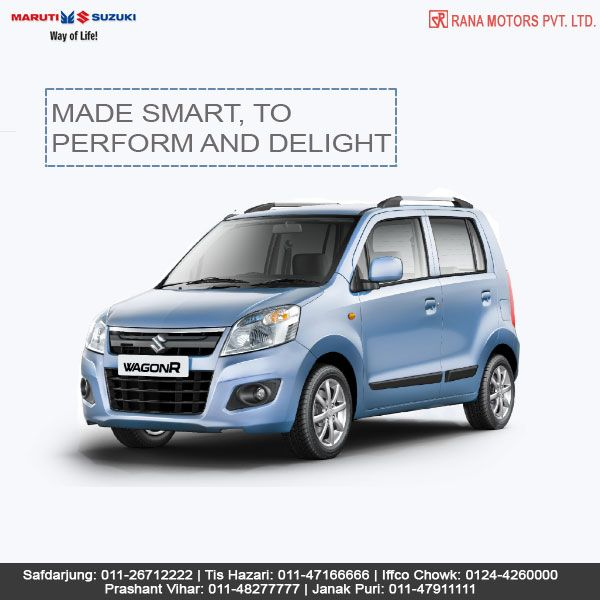 The WagonR with auto gear shift offers a clutch-free drive with great mileage and good pickup. Test drive it today and experience an exciting drive.  Contact Numbers:- Safdarjung: 011-26712222 Janak Puri: 011-47911111 Tis Hazari: 011-47166666 Iffco Chowk: 0124-4260000 Prashant Vihar: 011-48277777  #MarutiSuzuki #WagonR #Car #AutoGearShift #RanaMotors #NewDelhi #Gurgaon