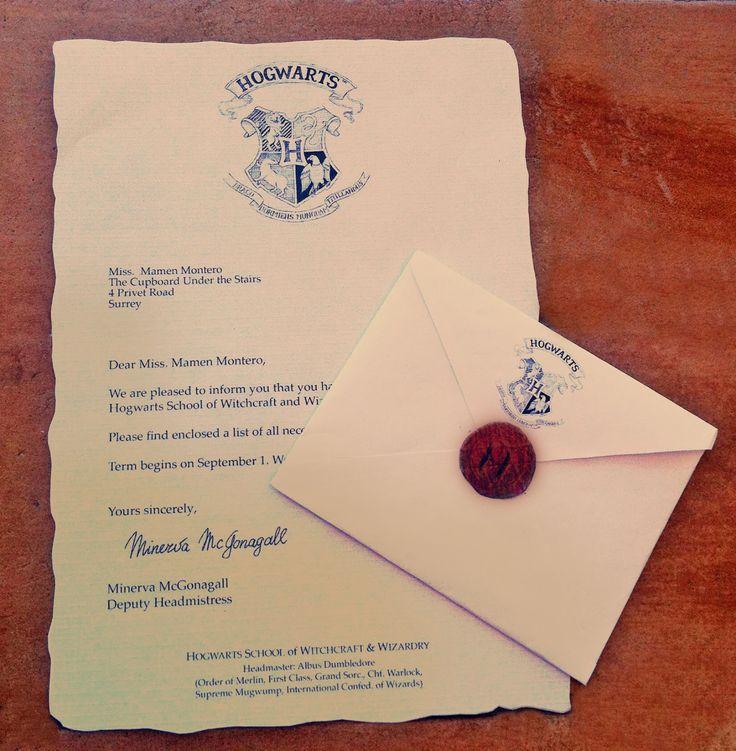 Resultado de imagen para carta de hogwarts
