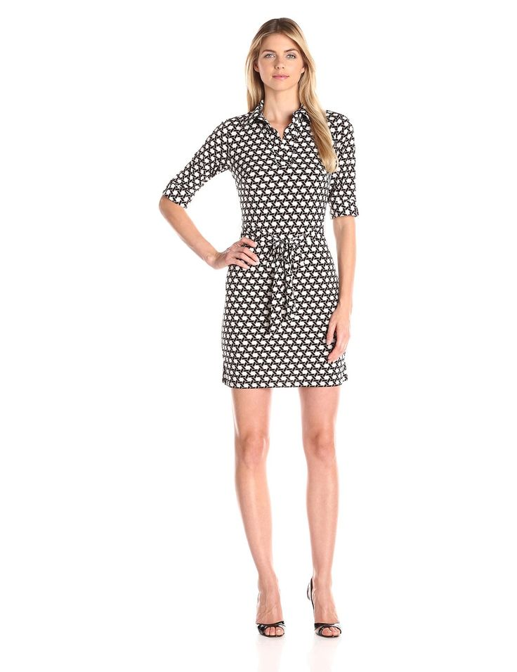 laundry BY SHELLI SEGAL Women's Printed Matte-Jersey Shirt Dress at Amazon  Women's Clothing store