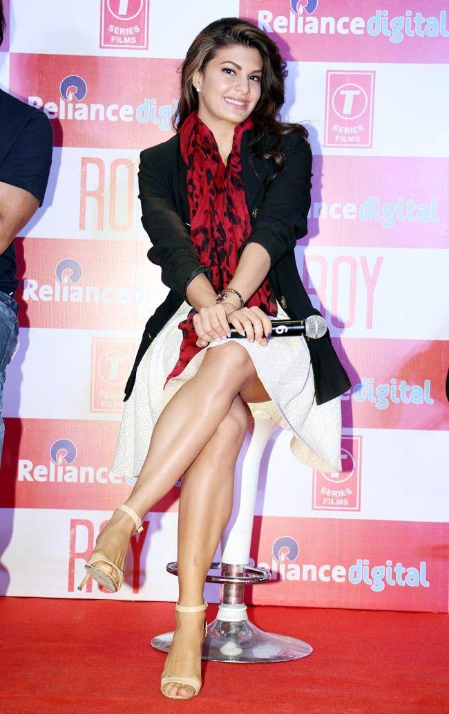 Jacqueline Fernandez at post-release promotion of Roy