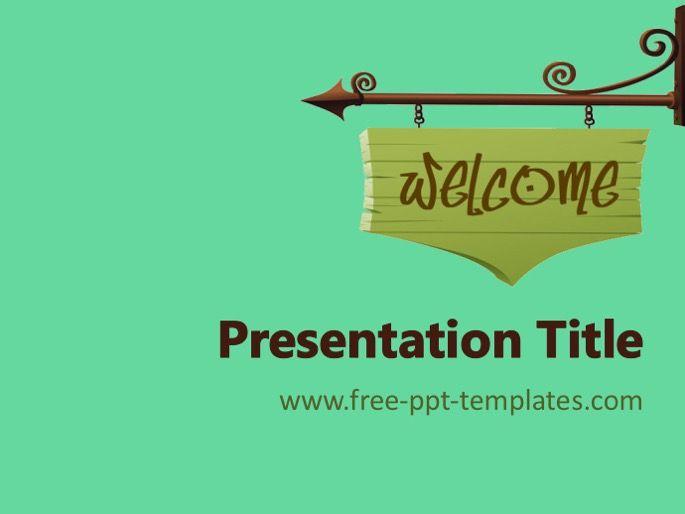 Welcome Ppt Template Tema Seni Presentasi Cetakan Bunga