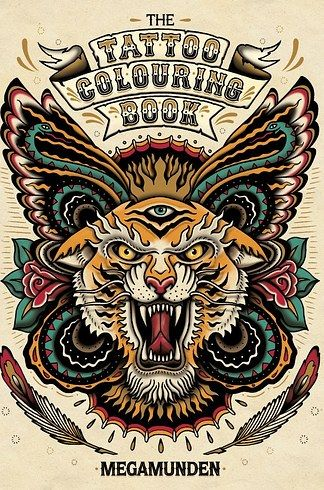 The Tattoo Colouring Book by Megamunden   16 Colouring Books That Are Perfect For Grown-Ups