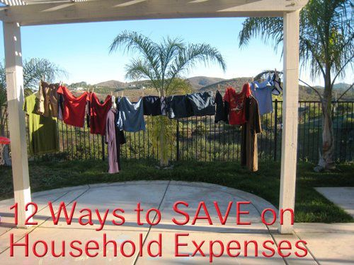 12 Ways to Save on Household Expenses - Household expenses like cleaners, soaps, furniture, maintenance, and energy costs are all things that you can adjust with a little creative thinking.