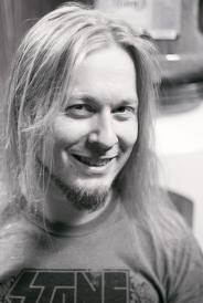 Antti 'Hyrd' Hyyrynen from Finnish prog-death-thrash metal band Stam1na