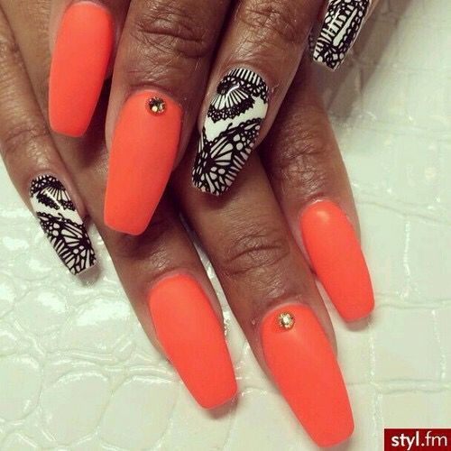 32 Gorgeous Nail Art Images Inspired By Summer Motifs: Nails, Sexy Nails Y Gorgeous Nails