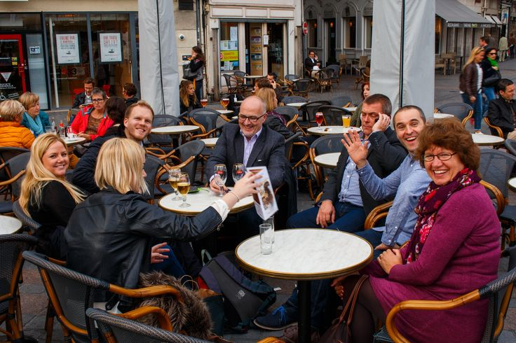 It was back on the beers for the Space team in Lille.