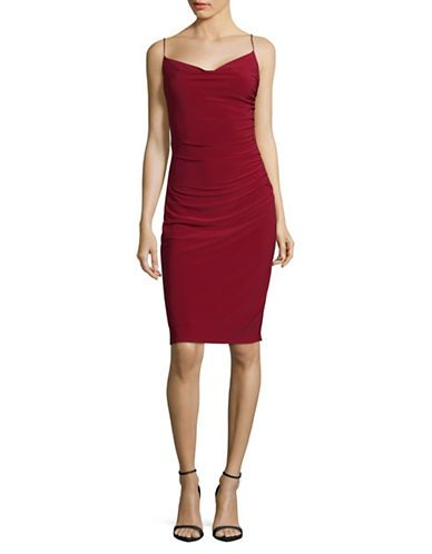 Women | Cocktail & Party Dresses  | Skinny Strap Fitted Cocktail Dress | Hudson's Bay