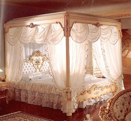 Princess Bed, when I was young I always wanted one...needless to say, I still do.  I honestly believe I'd feel prettier and have more lovely dreams while sleeping in it!