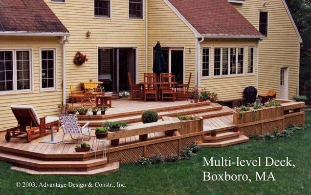 Multi Level Backyard Decks :  deck ideas on Pinterest  Fire pits, Patio ideas and Wood deck designs