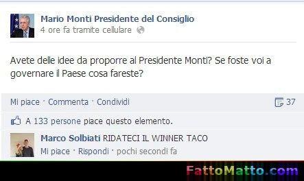 Imu? noi rivogliamo il Winner Taco  - via FattoMatto.com