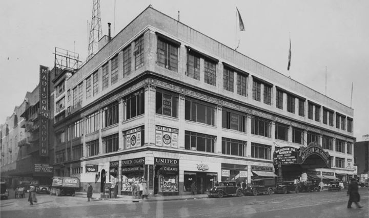 8th Avenue And 49th Street  The Third Madison Square Garden (c 1929)  Ewing  Galloway, Photographer | Old Times Square   NYC | Pinterest | Madison Square  ...