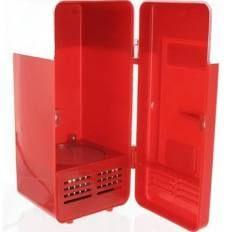 Draagbaar USB Mini Koelkast Voor 1 Blikje Rood YPU801