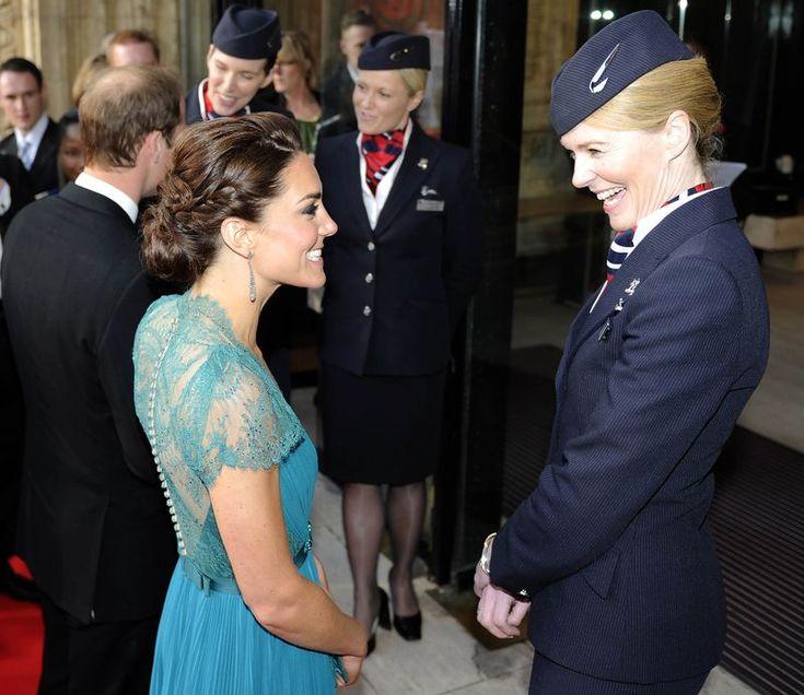 British Airways cabin crew and Duchess of Cambridge