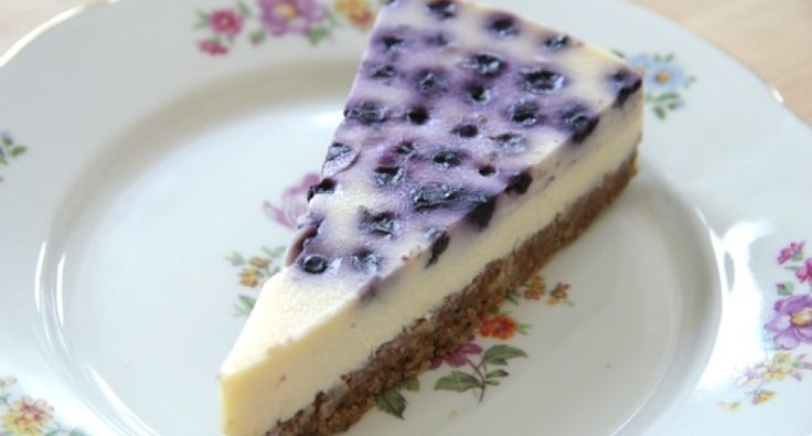 Áfonyás sajttorta recept (Blueberry Cheesecake)