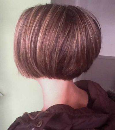 Picture Of Short Stacked Bob Hairstyles