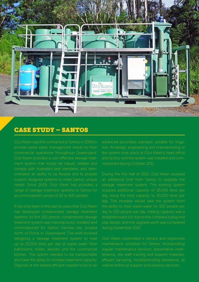 P.3 Ozzi Kleen On-site sewage treatment systems CASE STUDY – SANTOS
