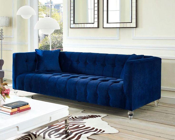 Bella Velvet Sofa Upholstered Sofavelvet Sofaliving Room Ideasapartment