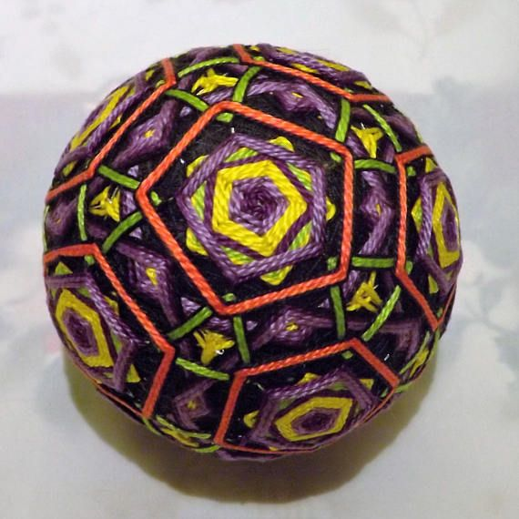 Temari means Handball. A Highly valued gift symbolizing deep friendship and loyalty. Brightly colored threads with the Recipient a Brilliant and Happy Life Temari is an ancient form of Japanese culture and art, the gift or a Temari ball is believed to bring good fortune to the