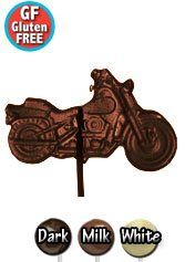Vegan Gluten Free Chocolate Motorcycle Lollipop