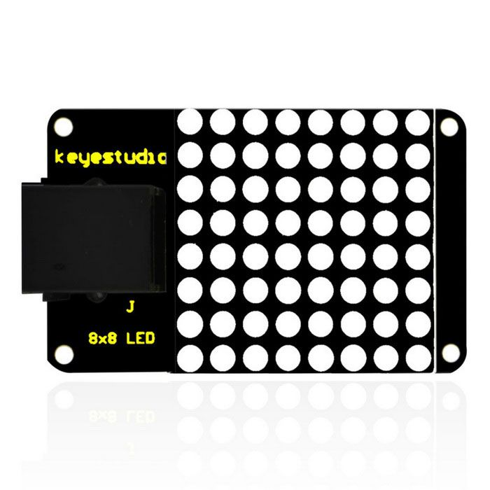 Easy Plug IIC I2C 8*8 LE D Dot Matrix Display for Arduino. Find the cool gadgets at a incredibly low price with worldwide free shipping here. Keyestudio Easy Plug IIC I2C 8*8 LED Dot Matrix Display, Sensors, . Tags: #Electrical #Tools #Arduino #SCM #Supplies #Sensors