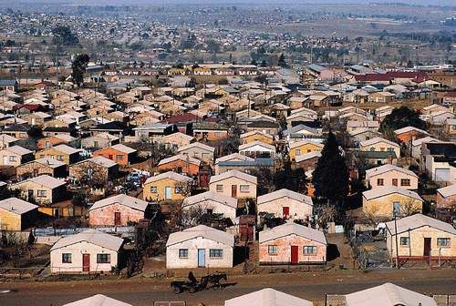 The other side of the coin - Soweto  (abbreviated South West Township) a legacy of the past but now a huge, vibrant,city within a city.