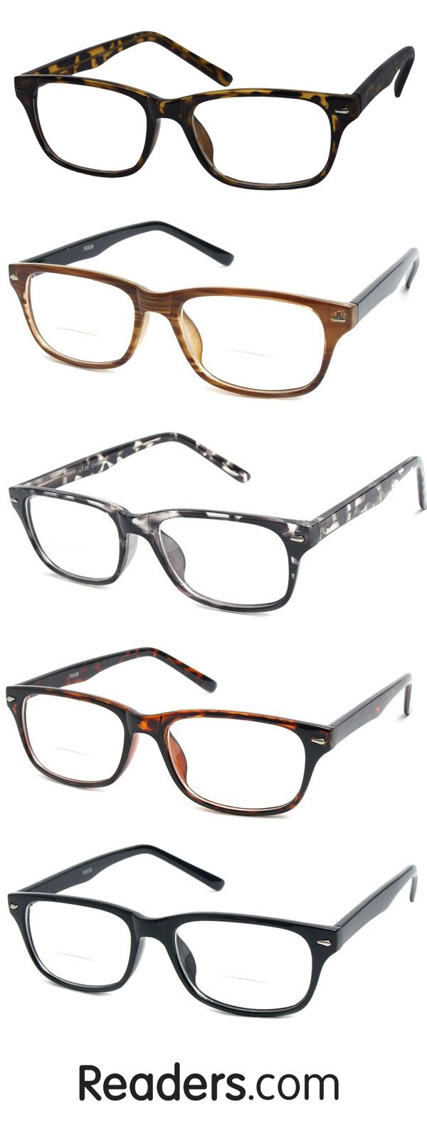 The Williamsburg Bifocal is a timeless option for men and women and it won't break the bank! Whether you're looking down to read or looking up to catch a glimpse of the television, you can keep your glasses on at all times with bifocal lenses. Readers.com | #glasses