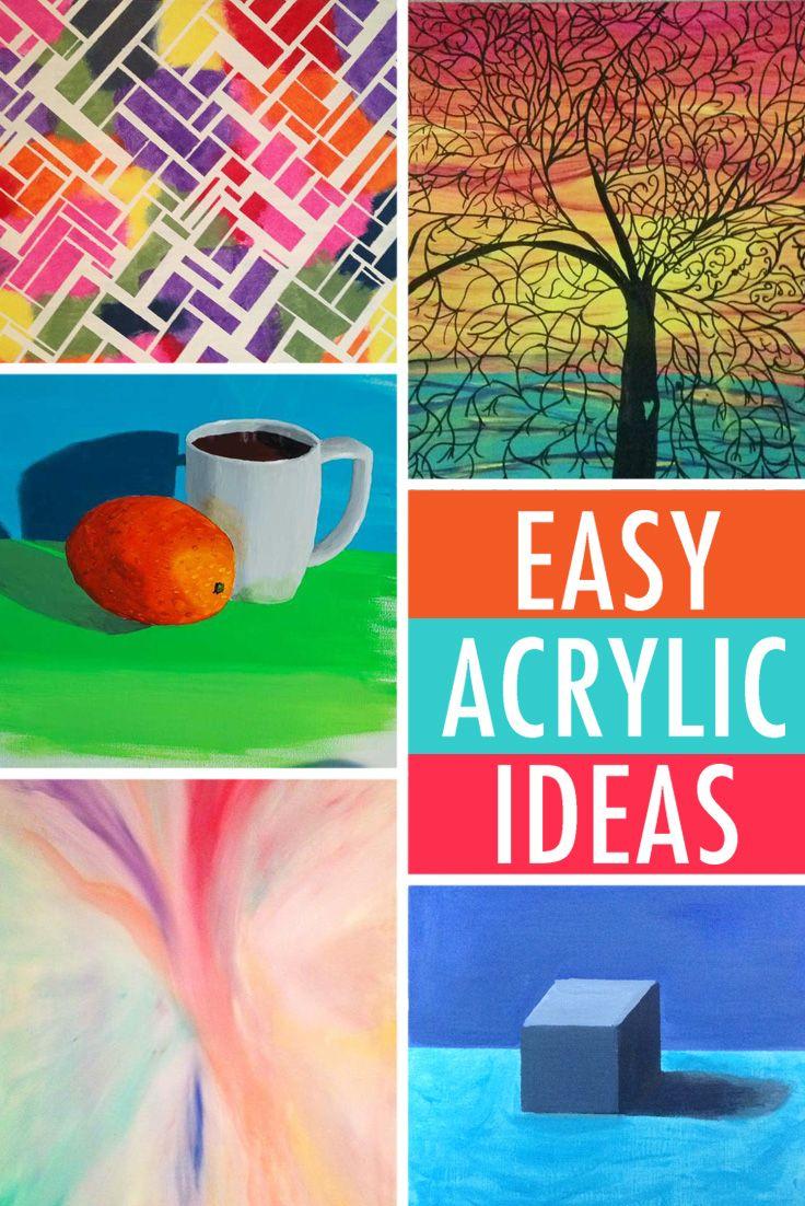 Easy acrylic painting ideas