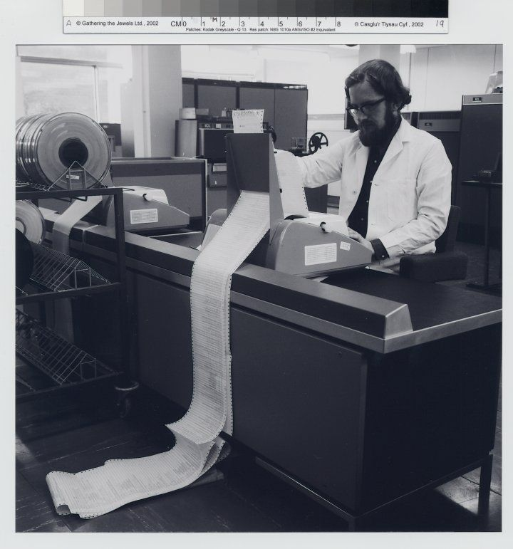 Cutting-edge computing at the end of the 60s (pic via http://hocc.swansea.ac.uk/node/92)