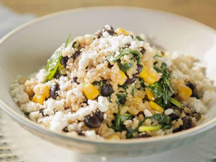 Black Bean-Feta Quinoa Bowl recipe from Trisha Yearwood via Food Network