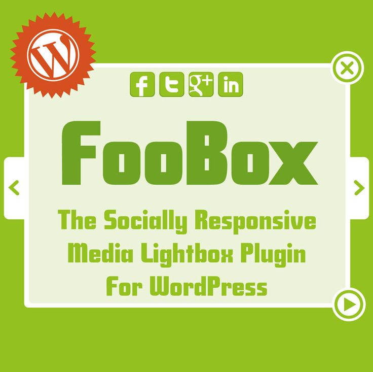 FooBox - Socially Responsive WordPress Lightbox Media Plugin. Your media content becomes responsive on mobile devices with social sharing options built-in.