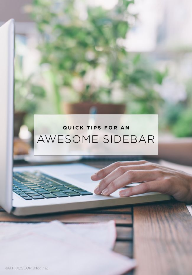 Quick tips for an awesome sidebar from blog designer and long time blogger Amanda Fuller.