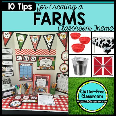 Clutter-Free Classroom: Farm Themed Classroom - Ideas & Printable ...