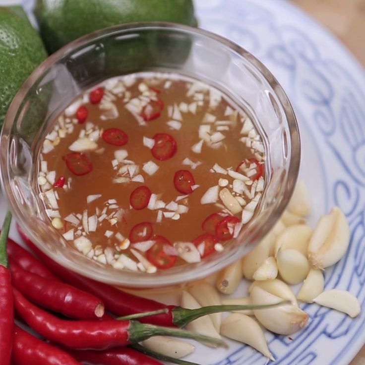 Erwan is making a Vietnamese fish sauce called Nuoc Cham.
