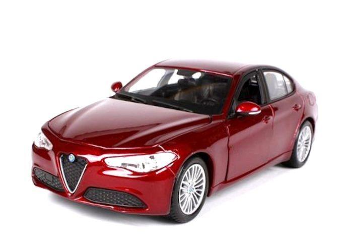 Alfa Romeo Giulia 2016 Red 1:24 Model 21080R BBURAGO