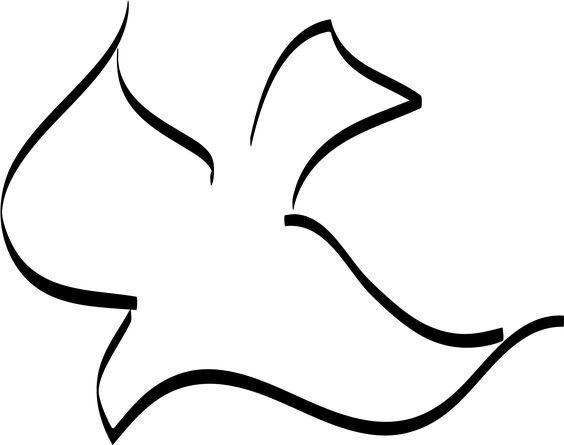 Holy Spirit Dove Tattoo, Holy Spirit Dove Jpg, Girlie Tattoos, Tattoos I Want, Dove Drawings, Line Drawings, Dove Pesquisa, Pentecost Dove, Church Art