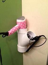 Rangement salle de bain - tuyau PVC