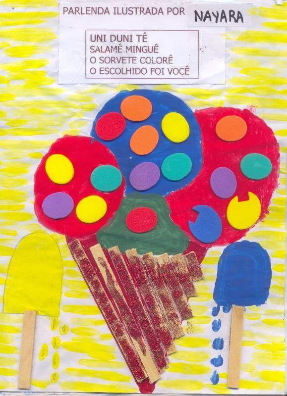 Caderno de Parlendas Ilustrado. - Aprender e Brincar