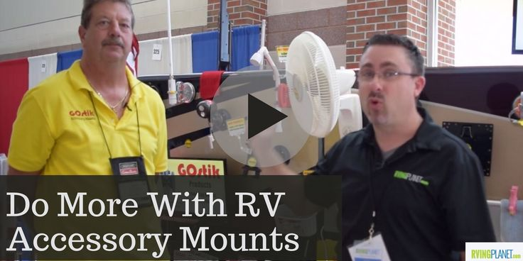 Do More With Exterior RV Accessory Mounts - http://www.rvingplanet.com/blog/do-more-with-exterior-rv-accessory-mounts/