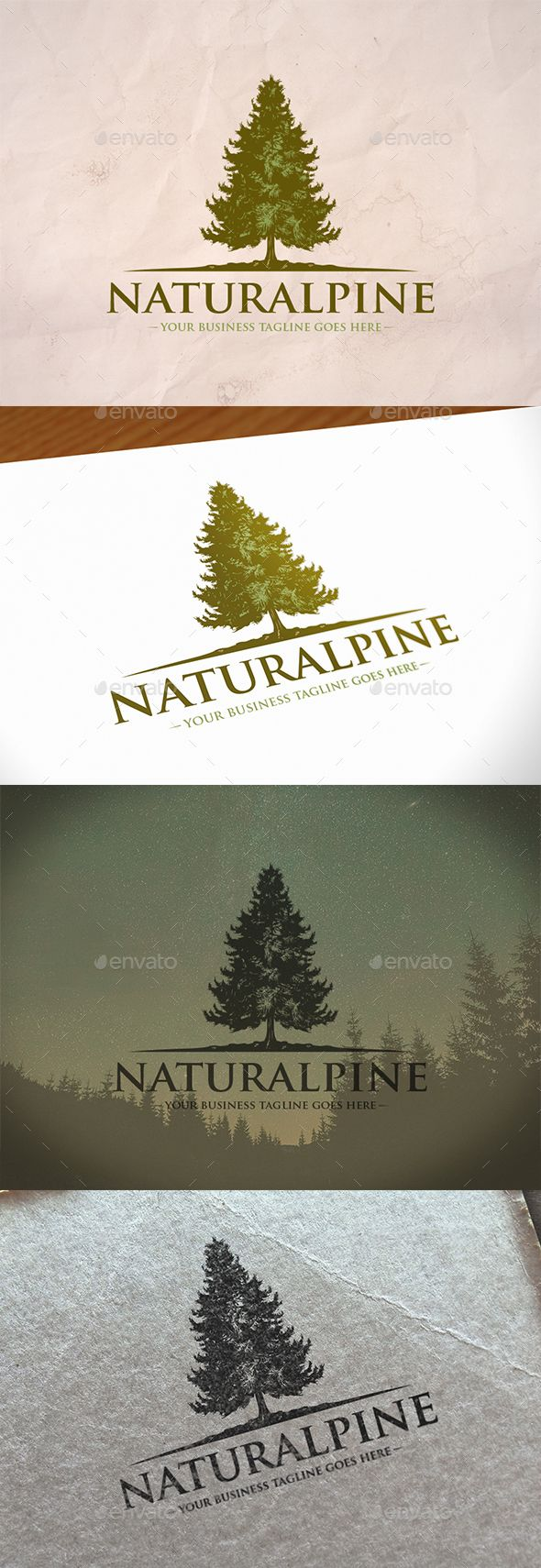 Pine Tree Logo Template PSD, Vector EPS, AI Illustrator. Download here: https://graphicriver.net/item/pine-tree-logo-template/17486196?ref=ksioks